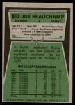 1975 Topps #124  Joe Beauchamp  Back Thumbnail