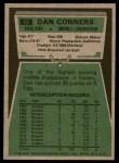 1975 Topps #52  Dan Conners  Back Thumbnail