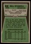 1975 Topps #81  Bill Stanfill  Back Thumbnail
