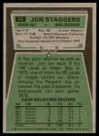 1975 Topps #93  Jon Staggers  Back Thumbnail