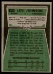 1975 Topps #119  Levi Johnson  Back Thumbnail