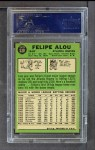 1967 Topps #530  Felipe Alou  Back Thumbnail