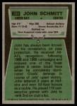 1975 Topps #289  John Schmitt  Back Thumbnail