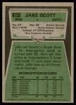 1975 Topps #291  Jake Scott  Back Thumbnail