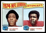 1975 Topps #5   -  Emmitt Thomas / Ray Brown Interception Leaders Front Thumbnail
