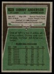 1975 Topps #292  Donny Anderson  Back Thumbnail