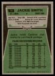 1975 Topps #14  Jackie Smith  Back Thumbnail