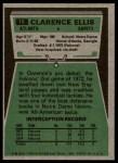 1975 Topps #18  Clarence Ellis  Back Thumbnail