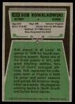 1975 Topps #304  Bob Kowalkowski  Back Thumbnail