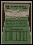 1975 Topps #22  Larry Seiple  Back Thumbnail