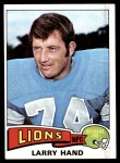 1975 Topps #42  Larry Hand  Front Thumbnail