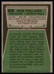 1975 Topps #63  Bob Pollard  Back Thumbnail