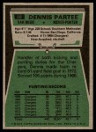 1975 Topps #68  Dennis Partee  Back Thumbnail