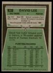 1975 Topps #361  David Lee  Back Thumbnail