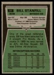 1975 Topps #81  Bill Stanfill  Back Thumbnail