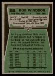 1975 Topps #101  Bob Windsor  Back Thumbnail