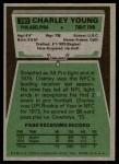 1975 Topps #390  Charley Young  Back Thumbnail