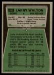 1975 Topps #393  Larry Walton  Back Thumbnail