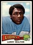 1975 Topps #393  Larry Walton  Front Thumbnail