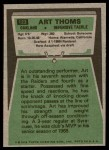 1975 Topps #123  Art Thoms  Back Thumbnail