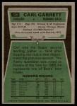 1975 Topps #126  Carl Garrett  Back Thumbnail