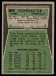 1975 Topps #132  Floyd Little  Back Thumbnail