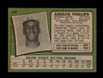 1971 Topps #418  Adolfo Phillips  Back Thumbnail