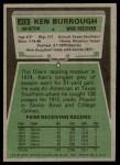 1975 Topps #413  Ken Burrough  Back Thumbnail