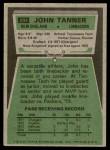 1975 Topps #294  John Tanner  Back Thumbnail