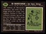 1969 Topps #104  Ed Sharockman  Back Thumbnail