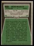 1975 Topps #314  Bob McKay  Back Thumbnail