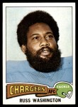 1975 Topps #335  Russ Washington  Front Thumbnail