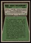 1975 Topps #44  Doug Wilkerson  Back Thumbnail