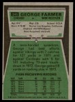 1975 Topps #346  George Farmer  Back Thumbnail