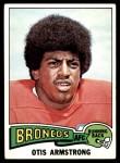 1975 Topps #350  Otis Armstrong  Front Thumbnail
