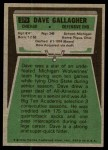 1975 Topps #379  Dave Gallagher  Back Thumbnail