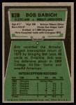 1975 Topps #82  Bob Babich  Back Thumbnail