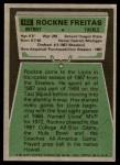 1975 Topps #102  Rockne Freitas  Back Thumbnail