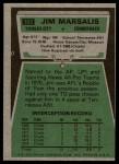 1975 Topps #103  Jim Marsalis  Back Thumbnail