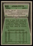 1975 Topps #409  John Pitts  Back Thumbnail