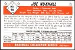 1953 Bowman REPRINT #90  Joe Nuxhall  Back Thumbnail