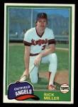1981 Topps #239  Rick Miller  Front Thumbnail