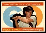 1960 Topps #555   -  Nellie Fox All-Star Front Thumbnail