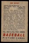 1951 Bowman #302  Jim Busby  Back Thumbnail