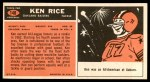 1965 Topps #148  Ken Rice  Back Thumbnail