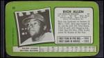 1971 Topps Super #40  Rich Allen  Back Thumbnail