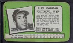 1971 Topps Super #8  Alex Johnson  Back Thumbnail