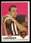 1969 Topps #186  Jack Concannon  Front Thumbnail
