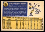 1970 Topps #266  Wally Bunker  Back Thumbnail