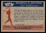 1959 Fleer #36   -  Ted Williams  Banner Year Back Thumbnail